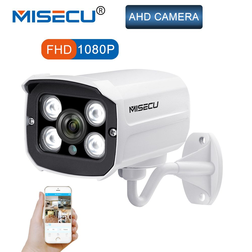 MISECU 1080P 2.0MP Full HD CCTV AHD IP66 Outdoor Waterproof Metal Bullet Security Surveillance CCTV Camera 4PCS Array IR LEDS