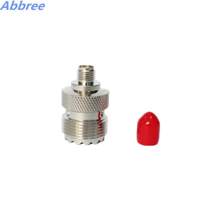 Abbree Mobile Radio à Deux Voies Radio RF Antenne Adaptateur UHF Femelle SO239 (PL259) à SMA Femelle à Femelle UHF Talkie Walkie