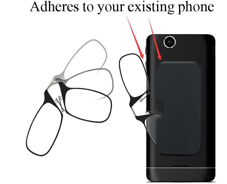 WEARKAPER Stick Anywhere, Go Everywhere Women Men Reading Glasses Plus Universal Pod Case,black Frame, Black Case +1.0 +1.5 +2.0