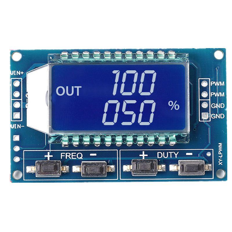 5 unids Ciclo de trabajo PWM Generador de Señal de Frecuencia de Pulso Ajustable Módulo de Pantalla LCD de 1Hz-150 Khz 3.3 V-30 V PWM Módulo de Placa