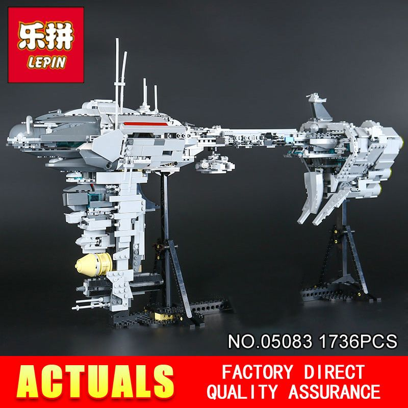2017 New LEPIN 05083 STAR Cool toy Dental warships 1736Pcs Educational Building Blocks Bricks Toys Model Gift to children WARS