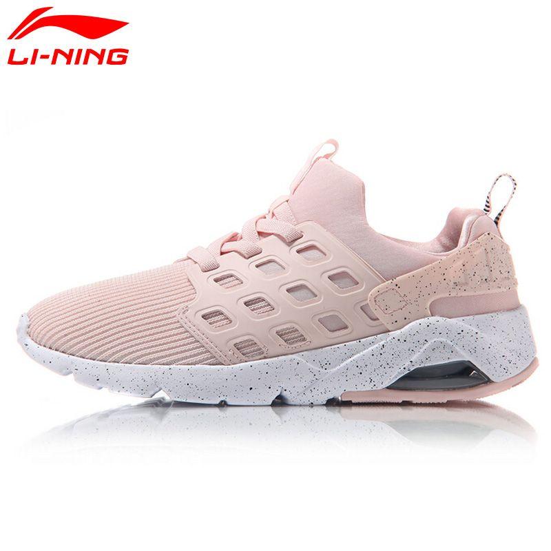 Li-Ning Women's Bubble Ace Streetwear Walking Shoes Mono Yarn Cushion Breathable LiNing Sneakers Sports Shoes AGLM022 YXB066