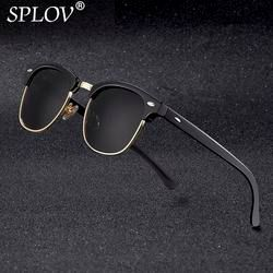 New Fashion  Semi Rimless Polarized Sunglasses Men Women Brand Designer Half Frame Sun Glasses Classic Oculos De Sol UV400