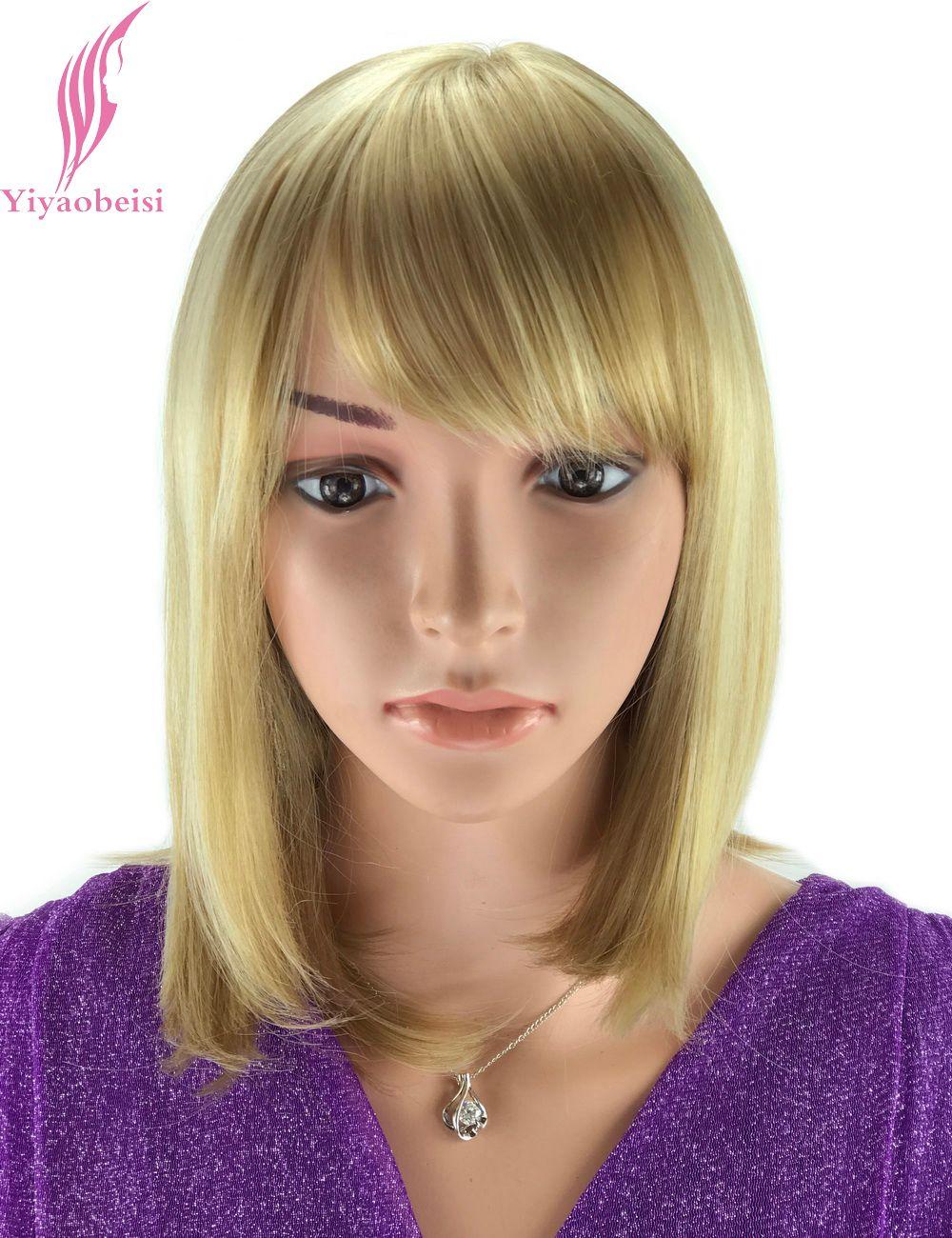 Yiyaobess 30 см выделяет блондинка Ombre парик для Для женщин термостойкие синтетические афроамериканец средних Боб Искусственные парики с Синтет...