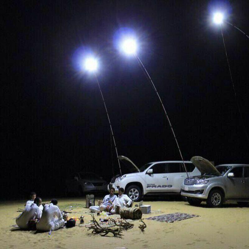 224 pcs Led COB 12 v LED Télescopique Canne À Pêche En Plein Air Lanterne Camping Lumière pour Voyage Sur La Route ou mobile rue lumière
