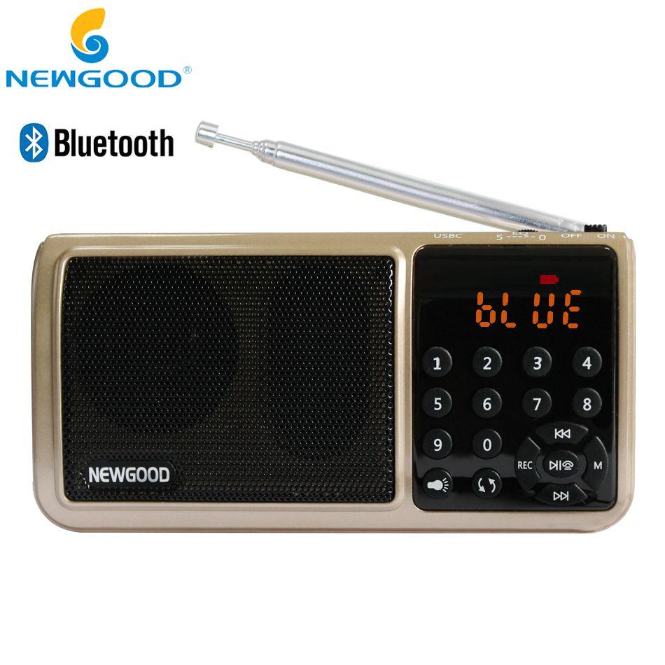 Bluetooth Fm Radio Portable Numérique Micro Sd Radios Haut-Parleur Radio Récepteur Aux TF USB Mp3 Lecteur Haut-parleurs lecteur Flash lampe de Poche