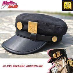 Аниме JoJo's Bizarre Adventure Jotaro Kujo Joseph Army Военная Униформа кепки шляпа + значок костюмы для косплея Анимация Бесплатная доставка