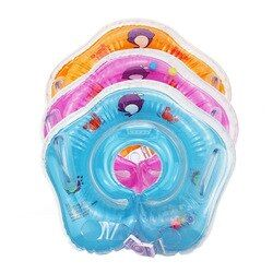 2018 swimming inflatable baby boat conformation infant baby neck float tube ring swimming pool neck bathing circle float ring