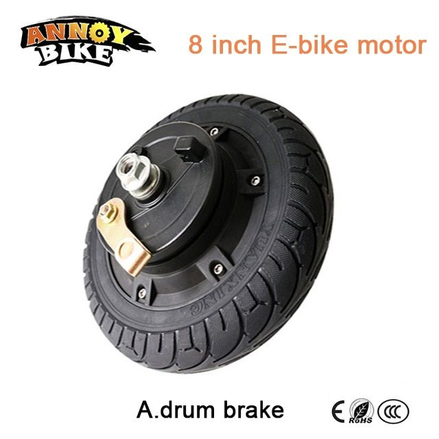 e bike BLDC Hub Motor 8 inch 36v 250w 350w Wheelbarrow wheel hub motor electric bike motor scooter wheelchair motor