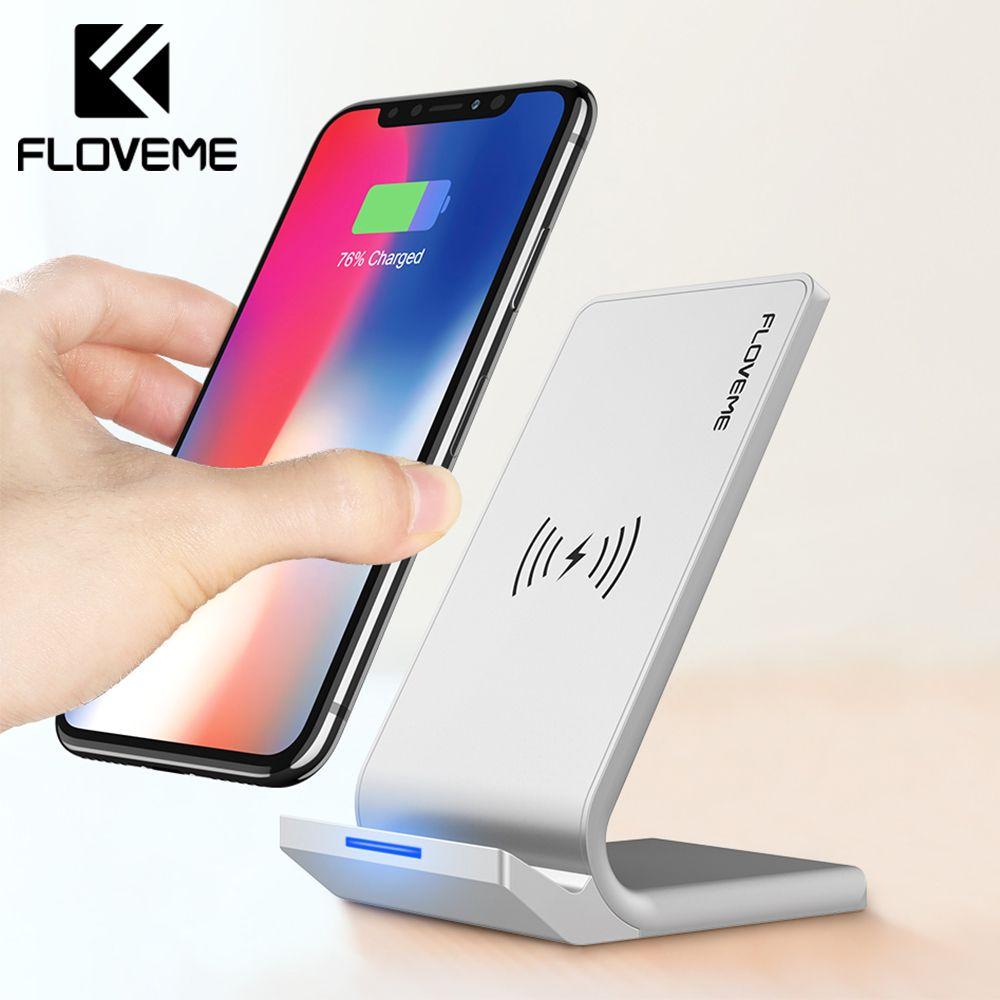 Chargeur universel sans fil FLOVEME Qi pour iPhone X XS XR 10 W chargeur rapide USB recharge sans fil pour Samsung Galaxy S8 S9 Note 8