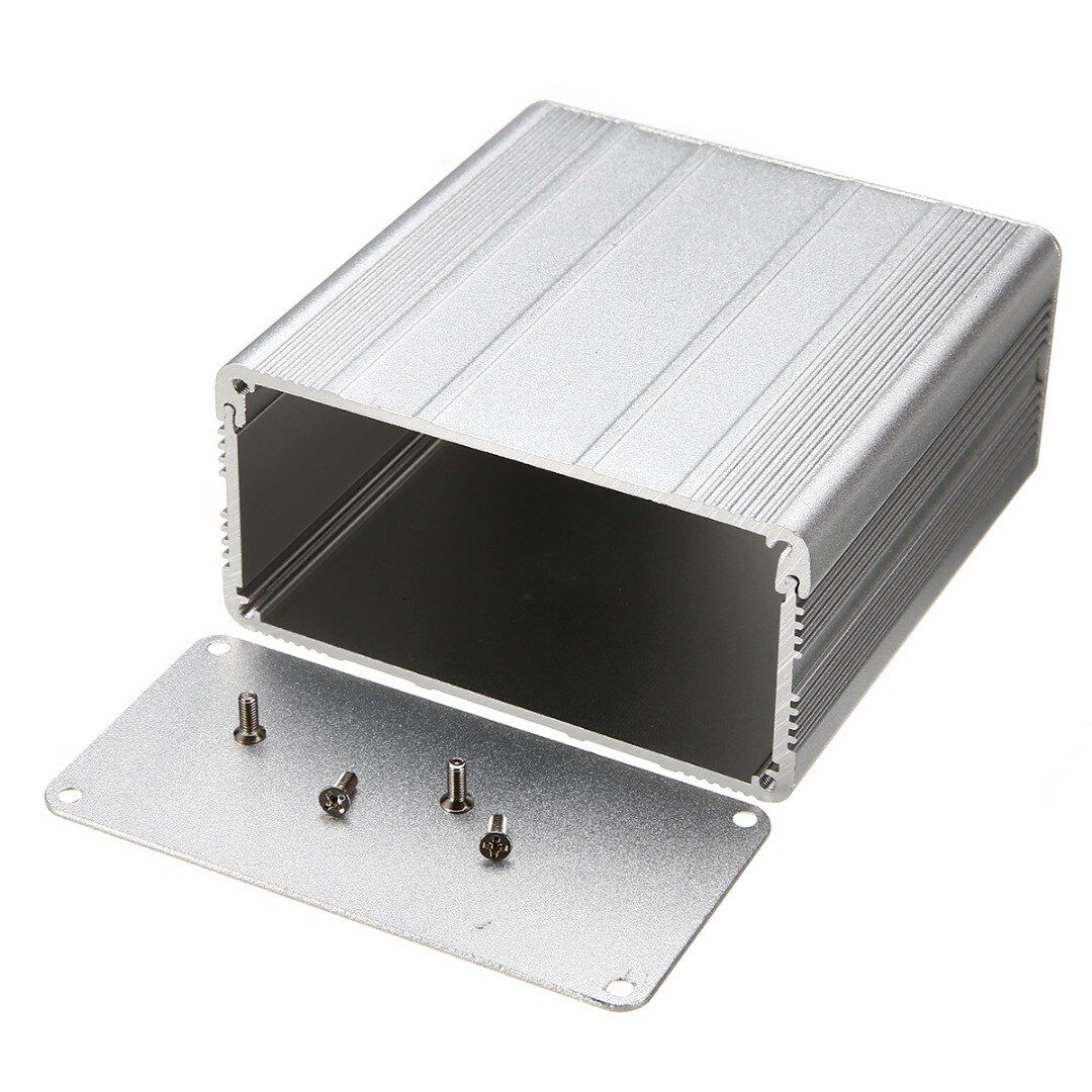 1pc Aluminum Electronic Project Box DIY PCB Instrument Enclosure Case 100x100x50mm with 8pcs Screws