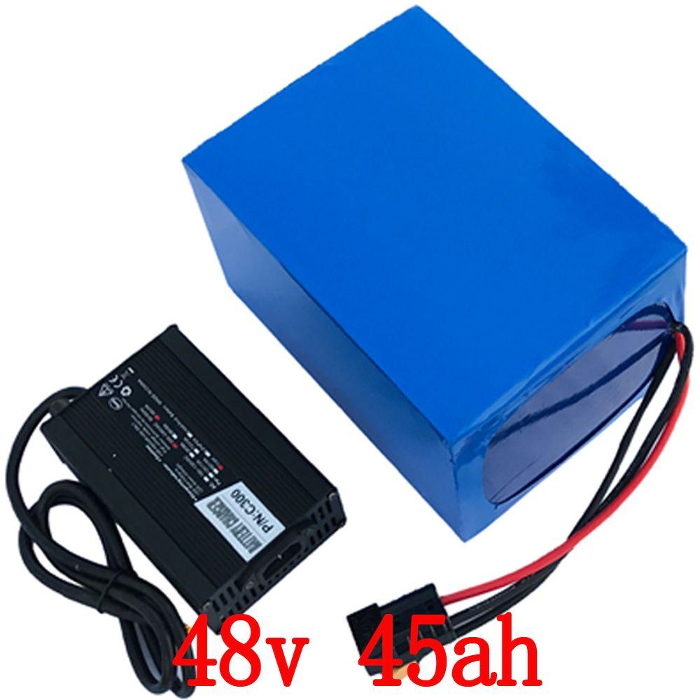 48 v 45AH 2000 watt Elektrische Fahrrad Batterie 48 v 45AH Lithium-ionen akku 48 v 45AH Roller Batterie mit 54,6 5A ladegerät