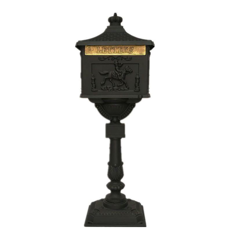 Security Stand Mailbox With Lock Cast Aluminum Mail Box Postal Box For Apartment Villa Home Garden Letter Newspaper Mailbox