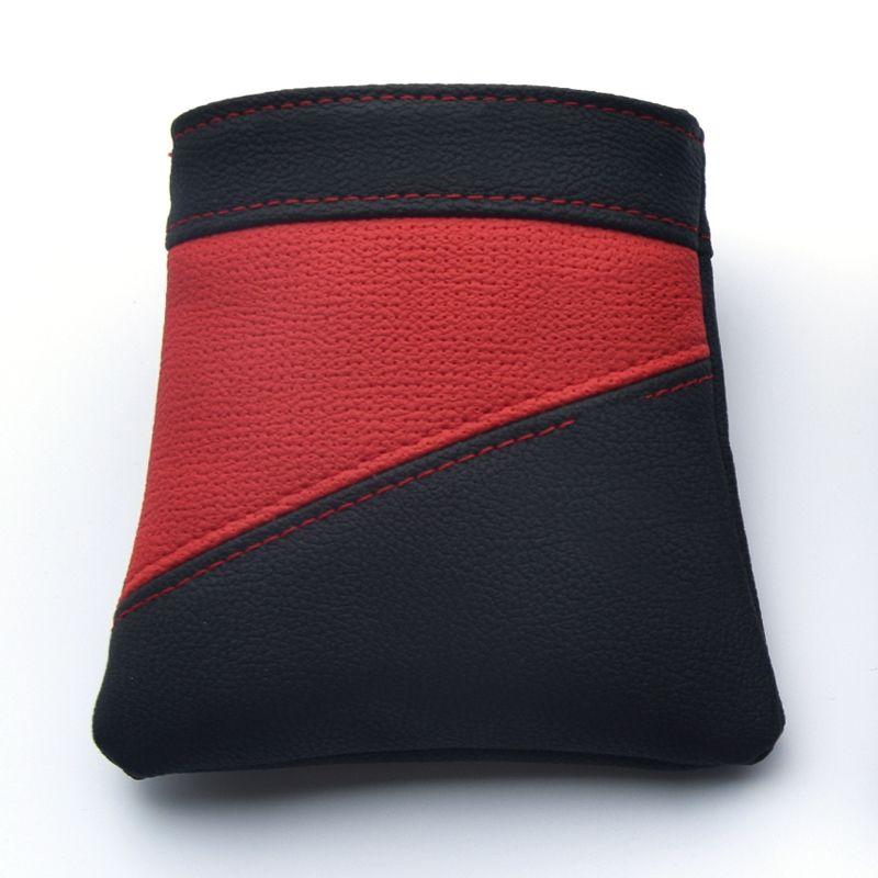 Multi-functional Organizer Leather Bag Car Air Vent Mount Phone Holder Pocket Debris Drink Cup Keys Tickets Storage Pouch Bag