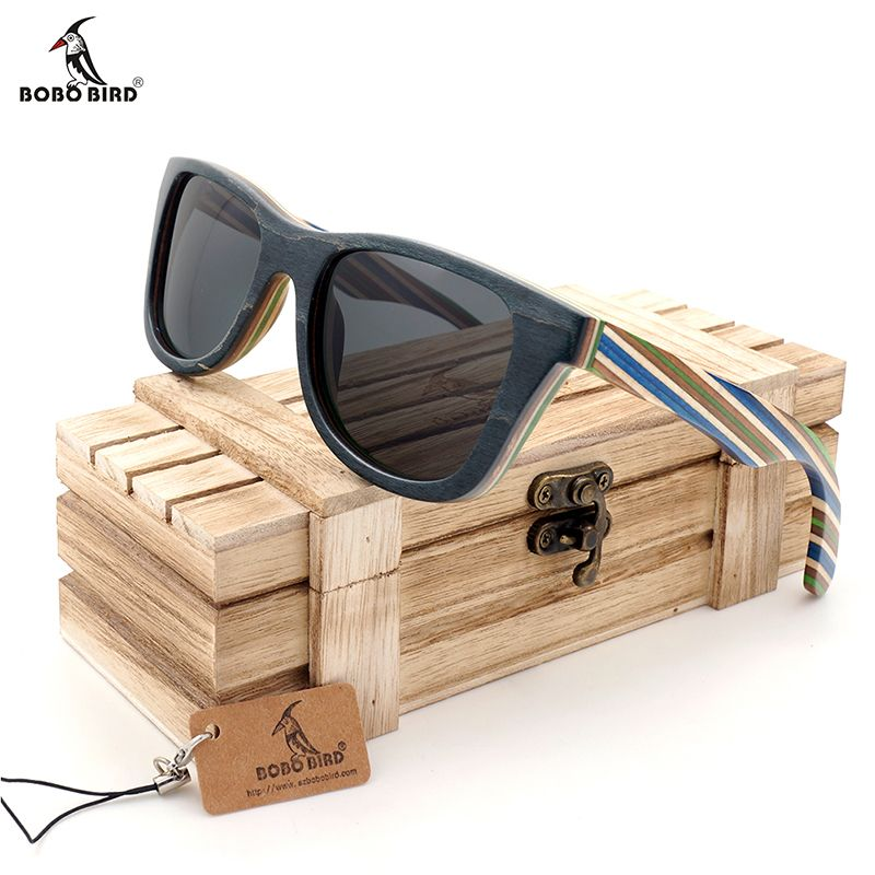 BOBO BIRD Natural Wooden Sunglasses Men bamboo Sun glasses Women Brand Designer Original Wood Glasses Oculos de sol masculino