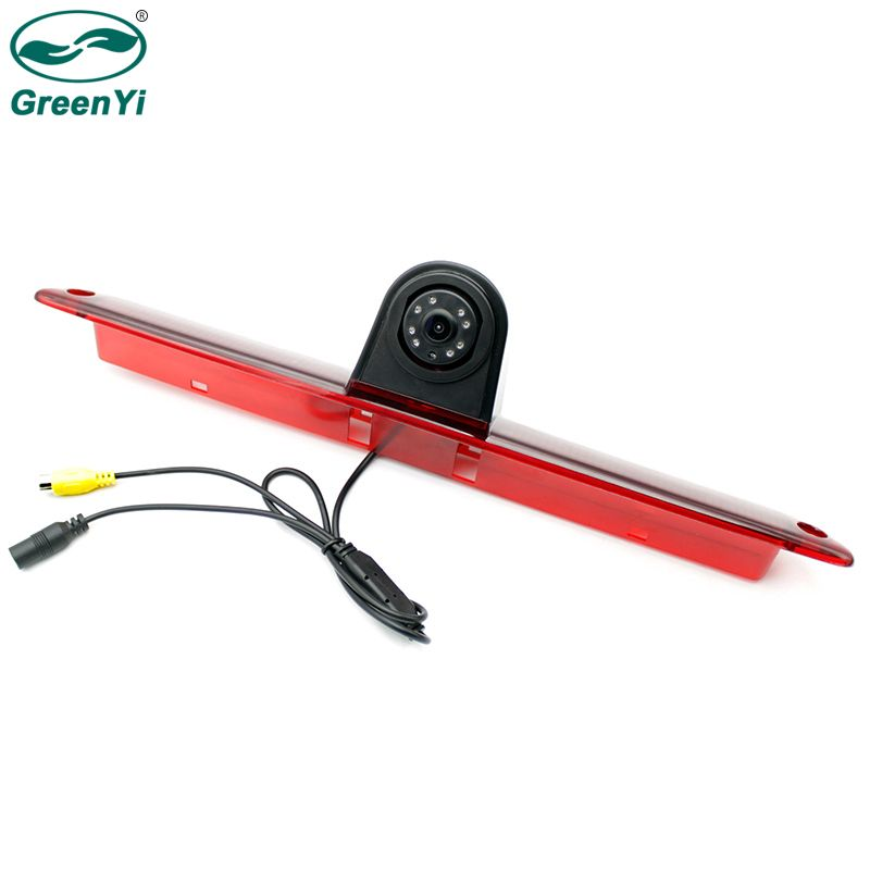 GreenYi Car Brake Light Rear View Backup Reverse Camera for Mercedes Benz W906 Sprinter Volkswagen VW Crafter LED Light