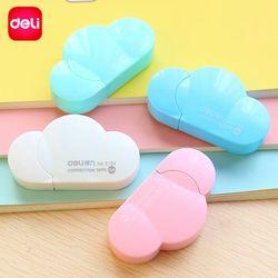 Deli corrección en forma de nube Kawaii caramelo Color dibujos animados Corretivo Escolar 5mm x 5 m escuela Chancery Oficina suministros