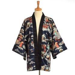 Традиционное японское кимоно Yukata мужской кардиган Mujer Женская короткая верхняя одежда пальто Hyakki Yakou Кларкс костюмы мира
