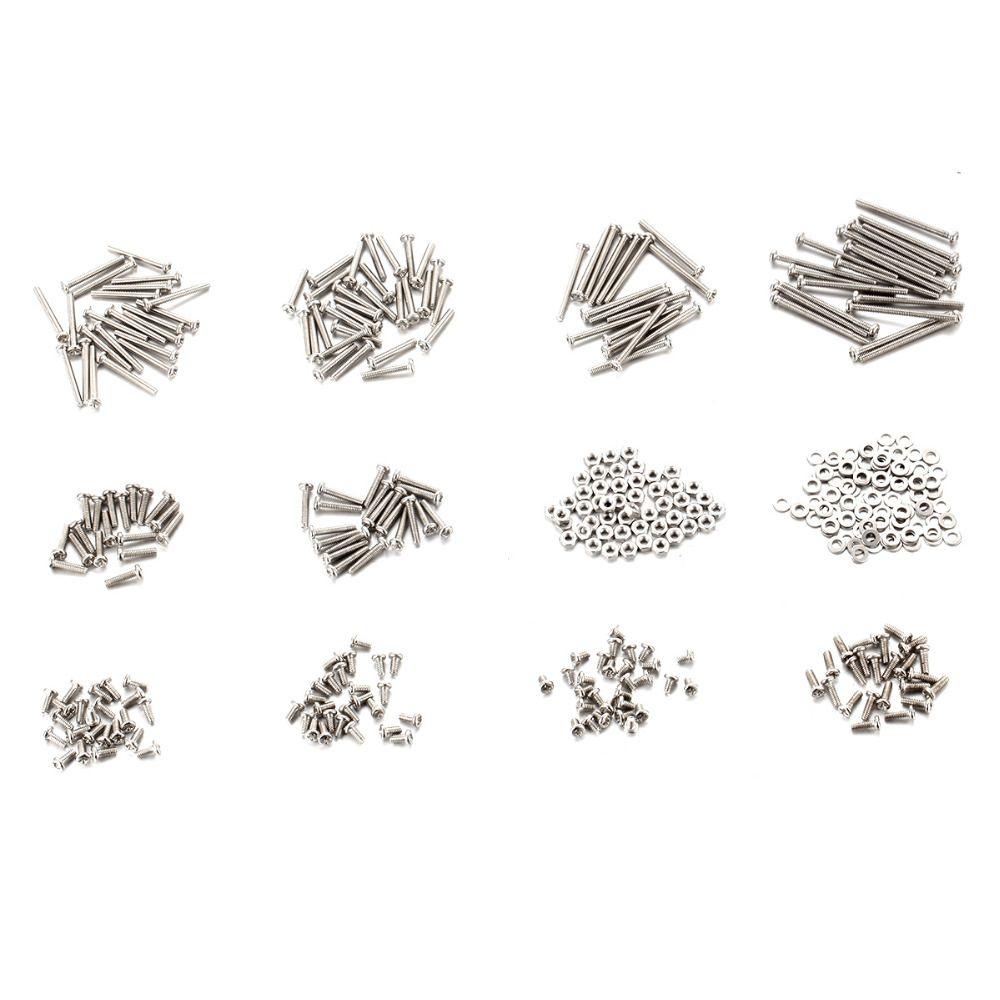 900 Stücke M2 Schrauben Set Hohe Qualität Oberfläche Galvanisieren Eisen Schrauben muttern & 2 Flachdichtung für Digitale Kleine Schrauben Länge 3-25mm