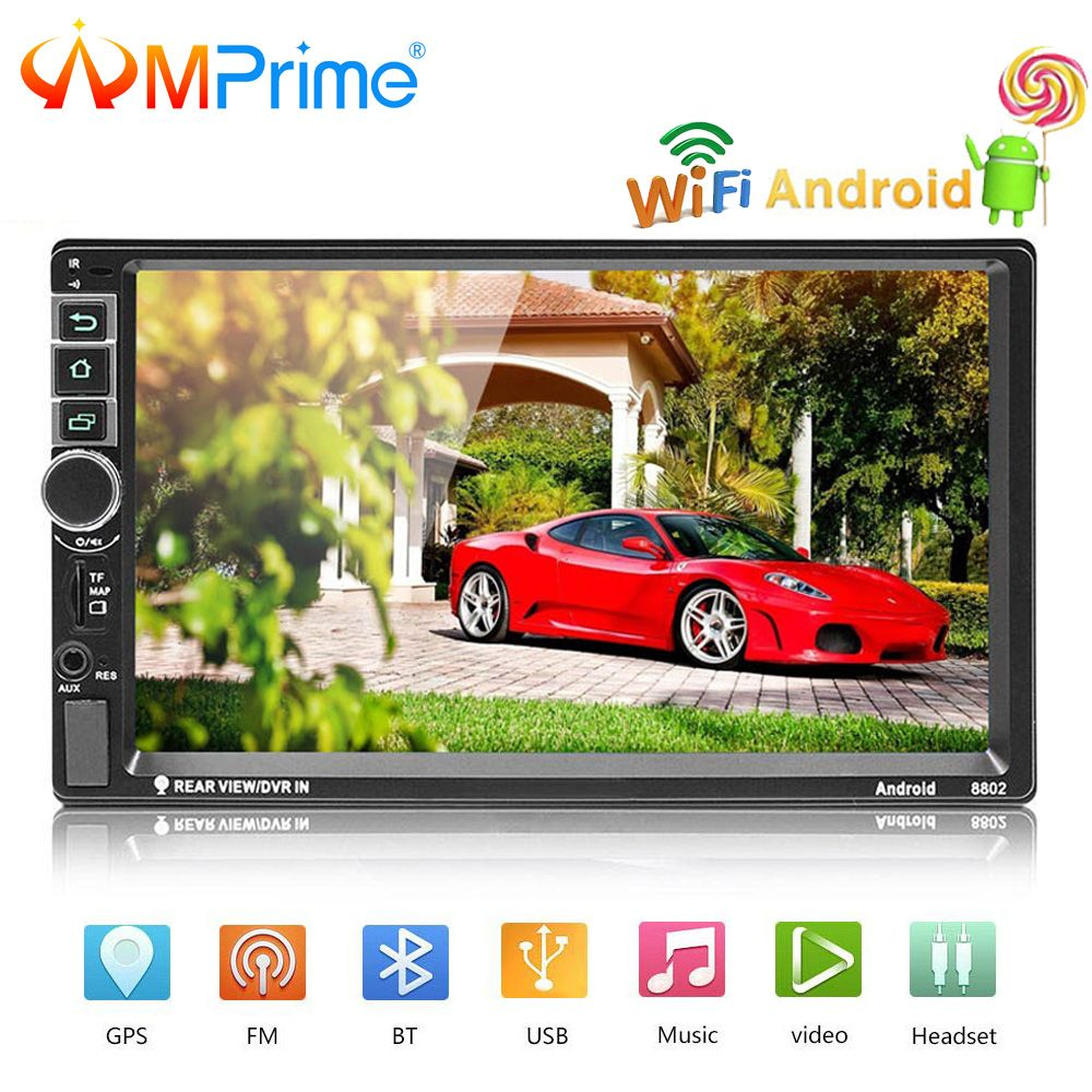 AMPrime Universal 2 din 7 Car radio Android System Car Multimedia Bluetooth GPS Autoradio Touch Screen MP5 Player TF/USB/FM