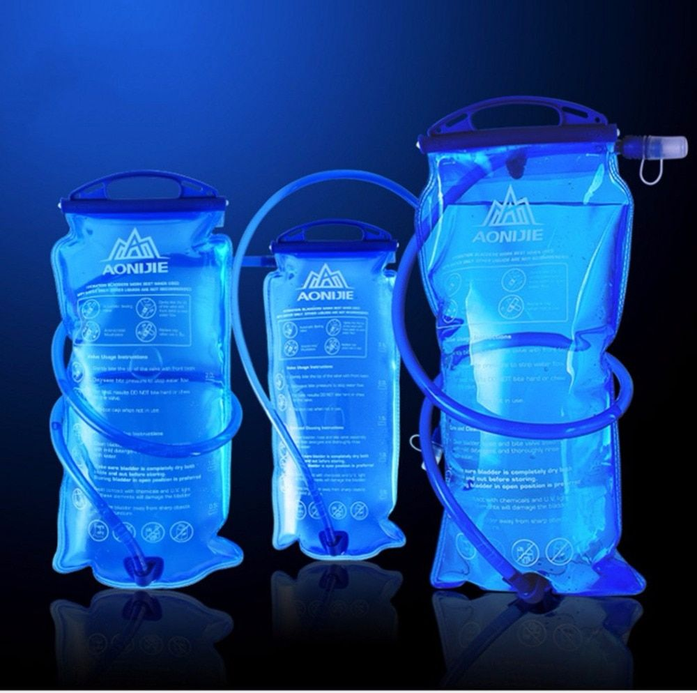 AONIJIE 1.5L/2L/3L Cycling Running Foldable Water Bag Soft Flask Sport Hydration Bladder Pack Camelback Camping Hiking Climbing