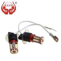KEIN 2 шт. h8 h11 светодио дный лампы 57SMD H1 H3 H7 9005 9006 880 881 H27 HB3 HB4 противотуманные фары сигнала лампы автомобиль светодио дный DRL дневного Авто