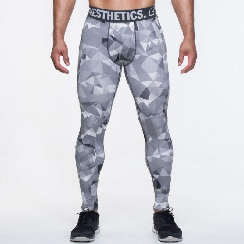 2018 pantalons de Compression pour hommes hiver pantalons décontractés Capris collants Leggings Skinny pantalons de Camouflage mode pantalons pour hommes 2XL 50