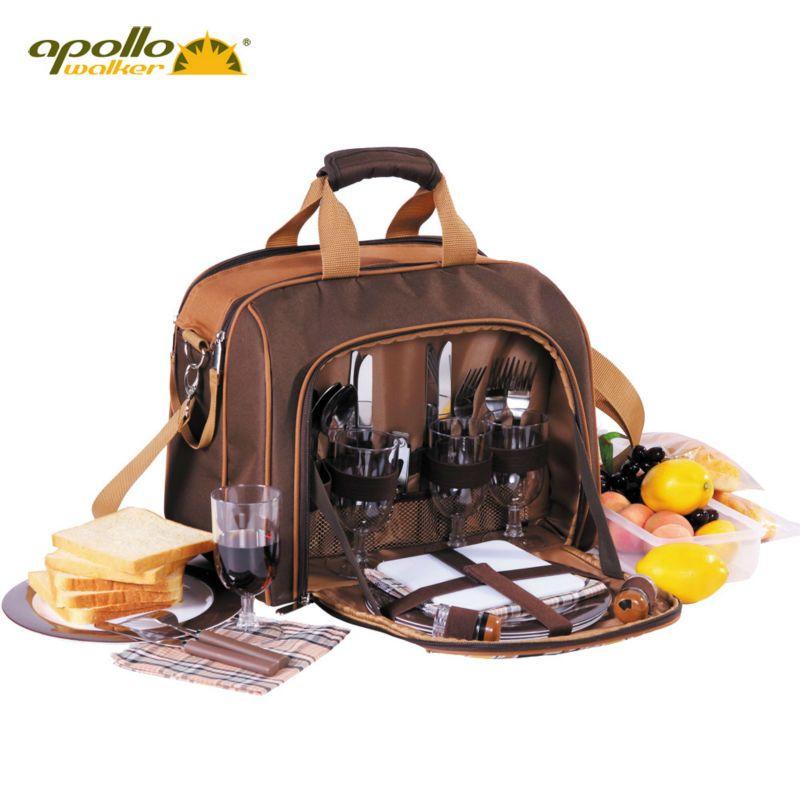 Apollo обед мешок внутри Алюминий Фольга сумка-холодильник для пикника портативный набор посуды sooktops полный комплект