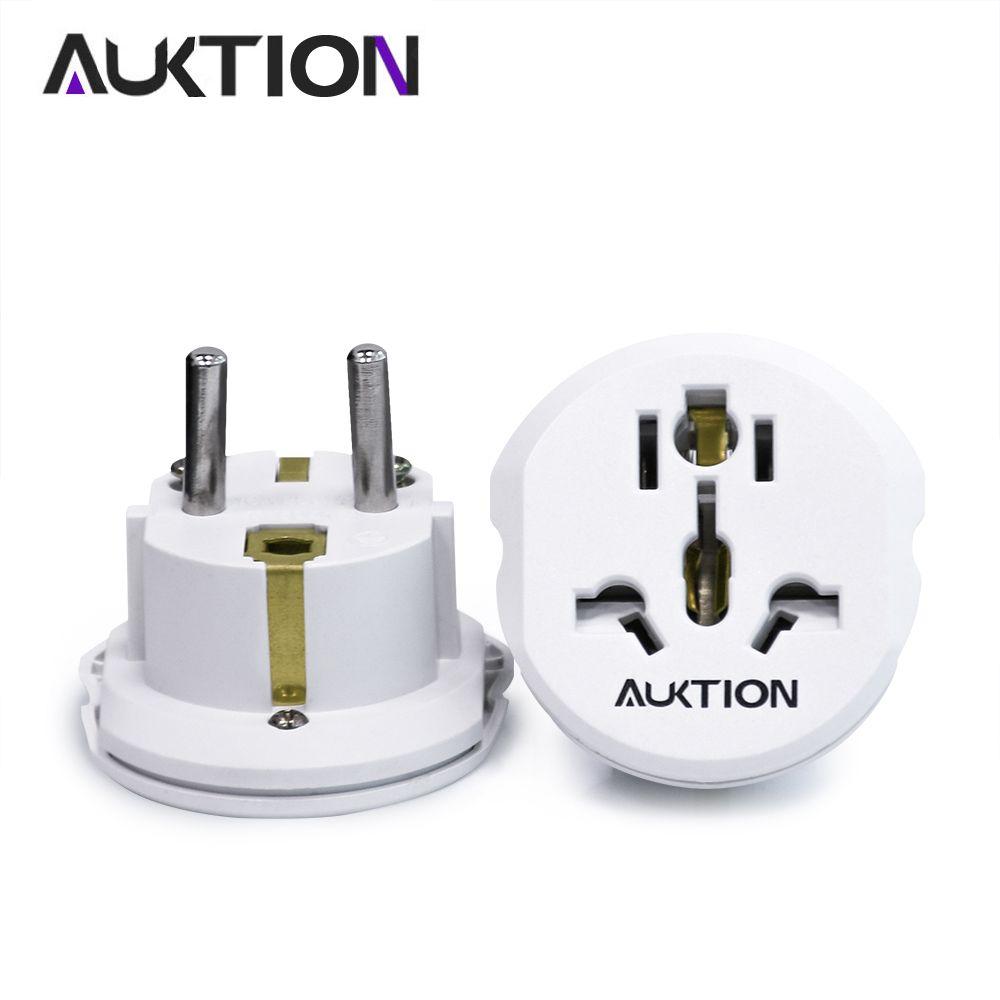 AUKTION 5 Pcs/Lot 16A universel EU (Europe) convertisseur adaptateur 250 V AC chargeur de voyage prise de courant murale adaptateur pour US UK AU