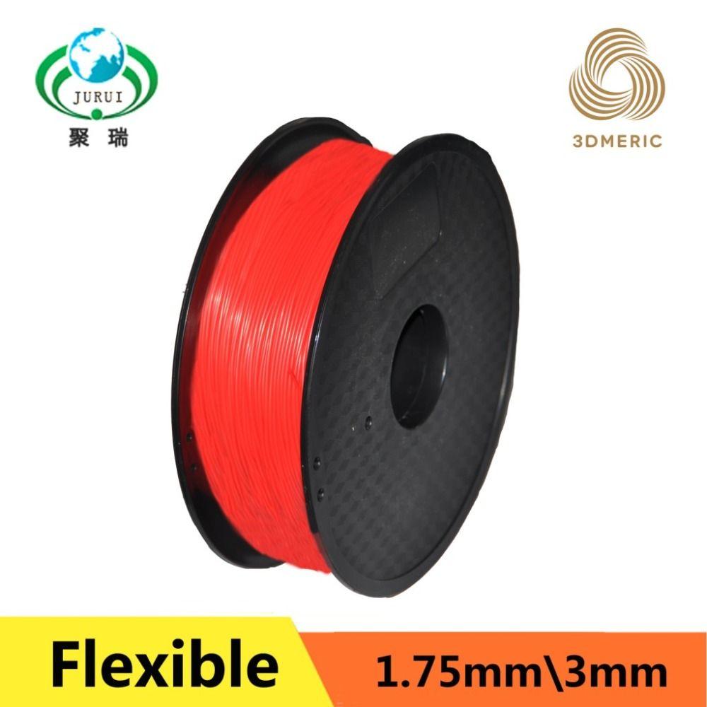 Hot Sale 1.75MM Flexible Material Plastic Consumables 3D Printer Filament For MakerBot RepRap UP Mendel 1KG /Spool