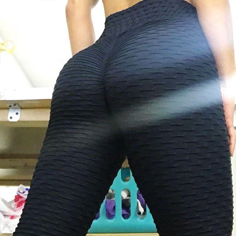 High Waist Push Up Sexy Gym Running 2018 Yoga Pants Black Sport Leggings Workout Sport <font><b>Fitness</b></font> Leggings For Women