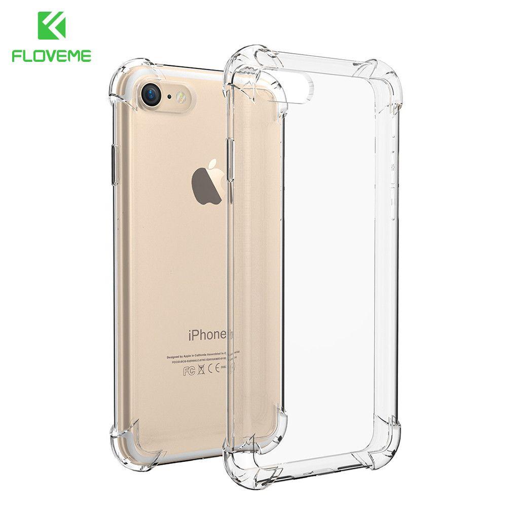 FLOVEME Für iPhone 7 Fall Super Anti Klopfen Weicher TPU Fall Für iPhone 7 7 Plus Abdeckung Einfache Ultra Dünne Weiche Silikon Telefon Abdeckung