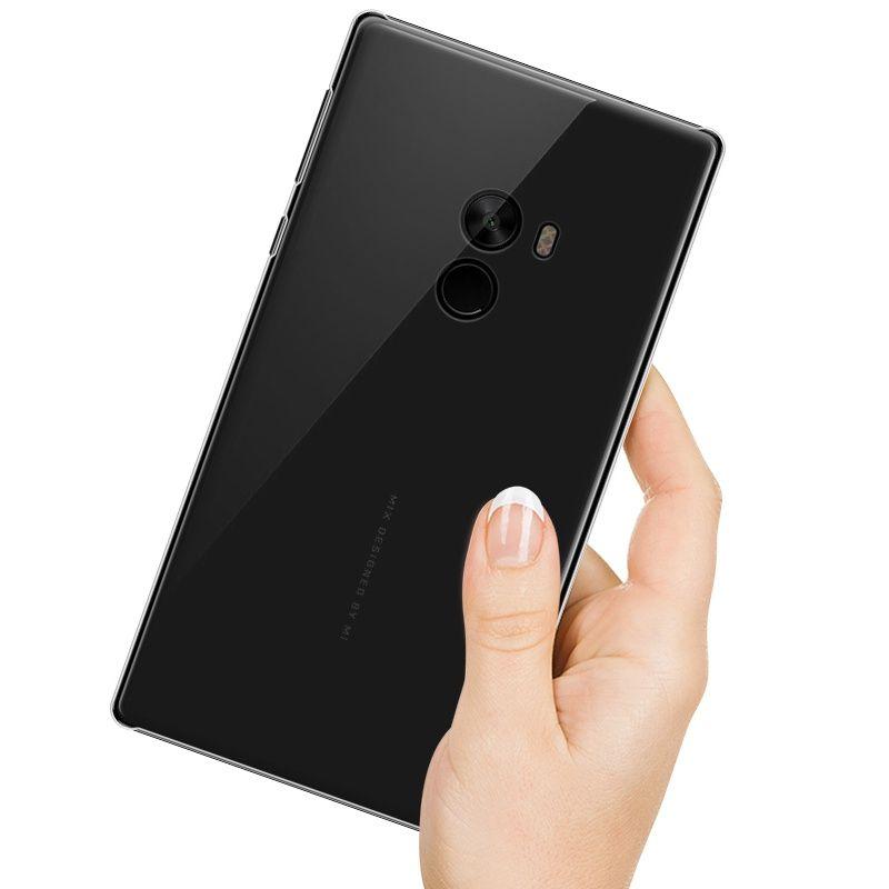 Pour Xiaomi mi cas de mélange pour Xiaomi cas de mélange MOFi pour xiaomi mi couverture de mélange TPU souple retour cas accessoires transparent ultra mince