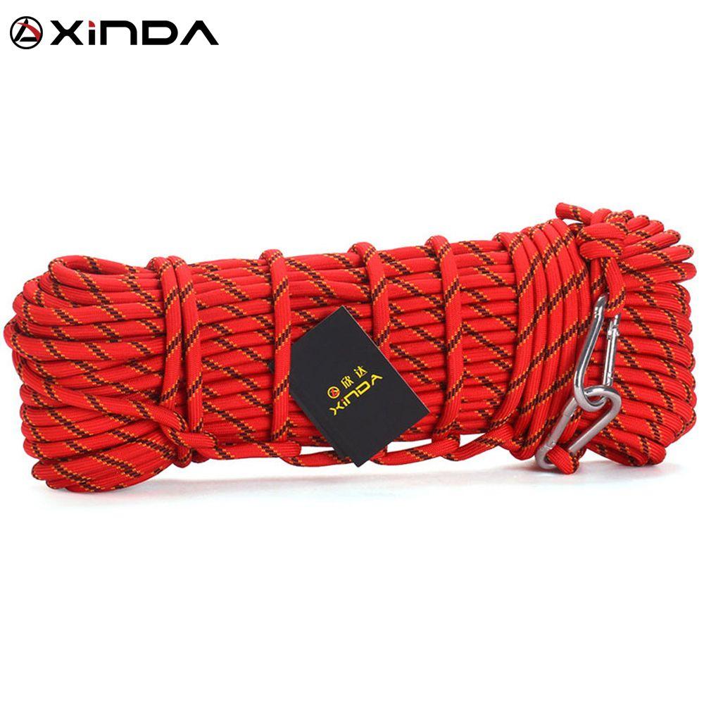 XINDA Escalada Professionnel Corde D'escalade En Plein Air Randonnée Accessoires 10mm Diamètre 3KN Haute Résistance Corde Corde De Sécurité