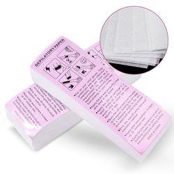 100 pcs Retrait Non-Tissé Tissu De Corps Cheveux Enlever La Cire Rouleaux De Papier De Haute Qualité Épilation Épilateur Bande de Cire Paper