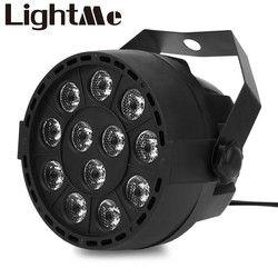 New Professional LED PAR RGB DMX LEVOU Efeito de Iluminação de Palco Luzes Do Palco 18 DMX512 Master-Slave Led Plano para DJ Disco Party KTV