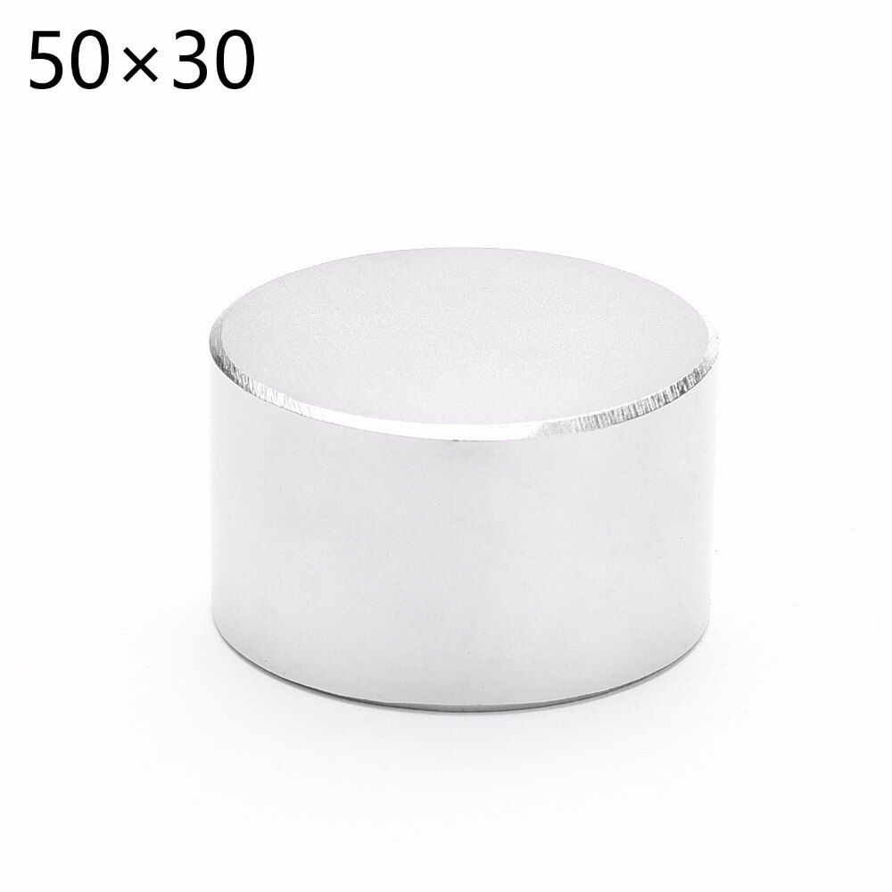 1pcs N52 Neodymium Dia 50mm x30mm Strong Magnets Disc NdFeB Rare Earth For Crafts Models Fridge Sticking 50*30mm 50mm*30mm