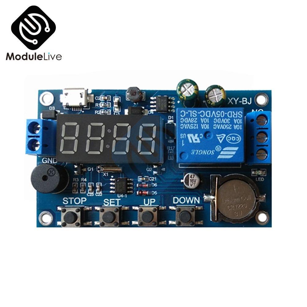 Echt-zeit Timing Schalter Relais Modul Fernbedienung Uhr Synchronisation Verzögerung Timer Controller Board Breite Spannung Netzteil DC 5 v