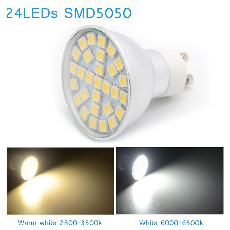 10Pcs/Lot LED Corn Light Bulb 110/220V 24LED SMD5050 480LM White/Warm White Lamp Head --M25