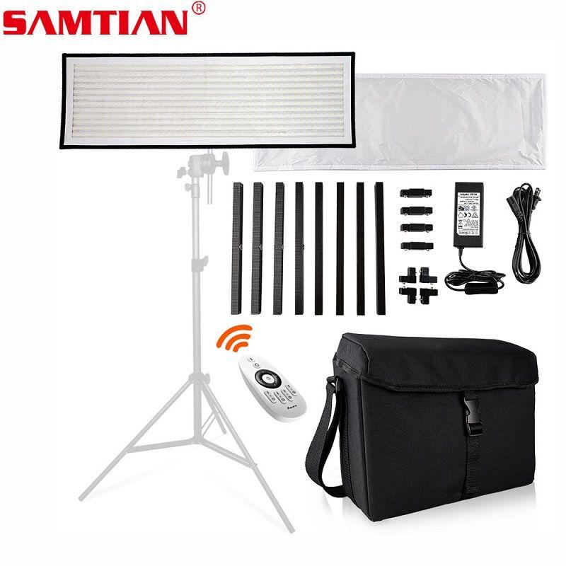 SAMTIAN FL-1x3 Flexible LED Video Light 30*90cm 576 LED 5500K Photo Studio Lamp Photographic Lighting For Youtube Vlog Shoot