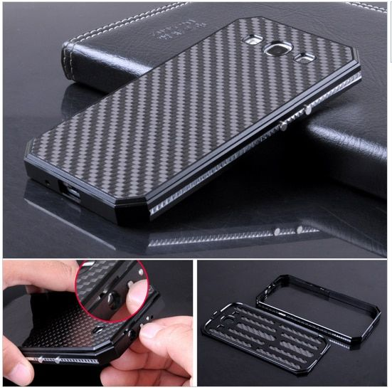 Premium Metal Aluminum Frame & Carbon Fiber Back Cover Original Mobile Phone Cases For Samsung Galaxy S3 i9300 Protective Case