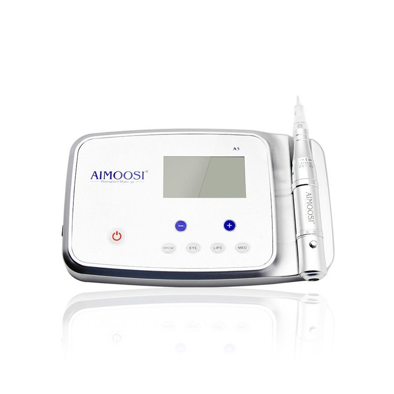 Aimoosi A5 Intelligent Permanent Makeup device&digital Machine Kit with Tattoo Gun,Control panel and Needles For Eyebrow&Lips