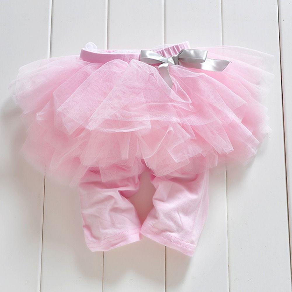 Принцессы девочки; дети 0-3years брюки Леггинсы для женщин штаны из газовой ткани партии юбки-пачки с бантом Лидер продаж