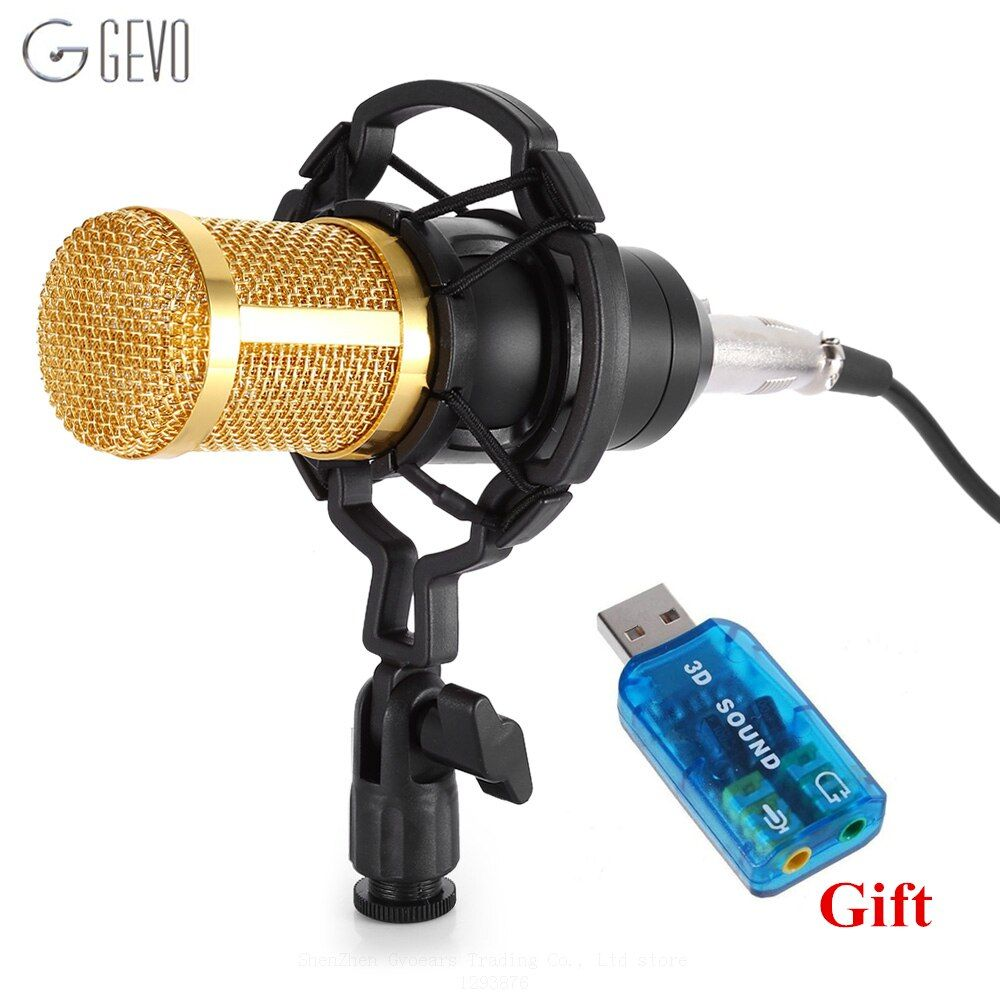BM 800 Condenser Microphone Professional 3.5mm jack Wired Computer Microphone BM-800 With Shock Mount For Studio Audio Recording