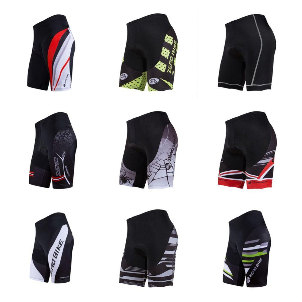 2017 ZERO BIKE Men's Cycling Shorts MTB Bike Bicycle 3D Padded Gel Tights Shorts Summer bermuda ciclismo M-XXL 9 Style