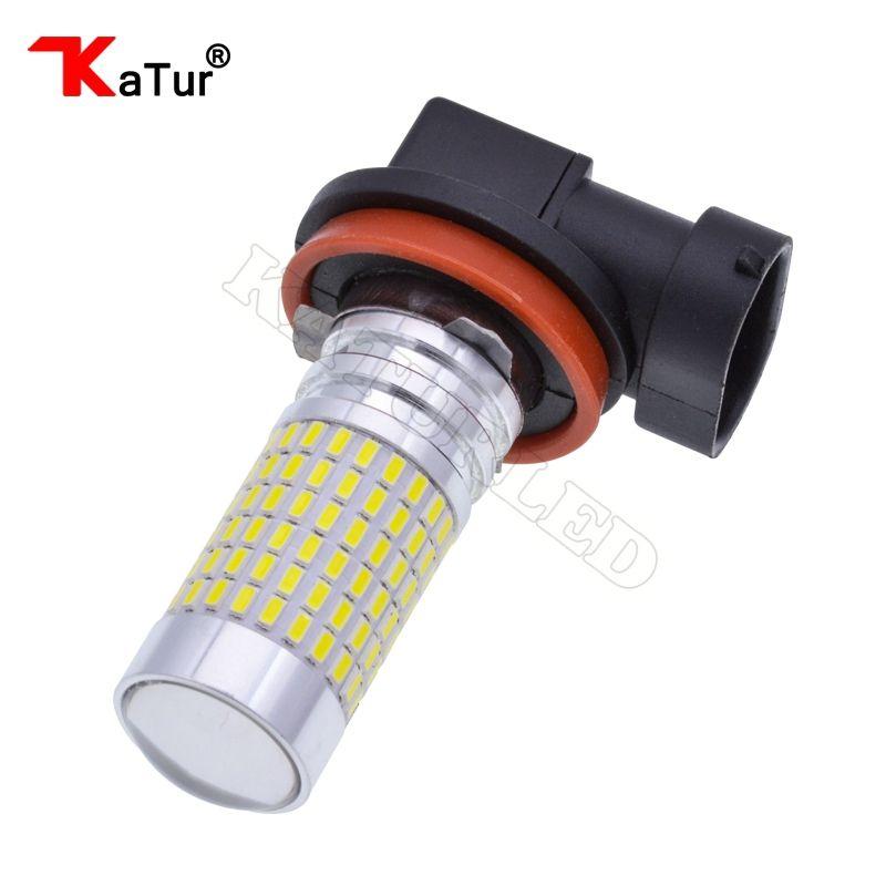 1 шт. H11 H16 светодиодные лампы 1500 люмен очень яркий 144-EX чипсетов H8 с проектором для DRL ИЛИ туман, 6000 К белый светодиод