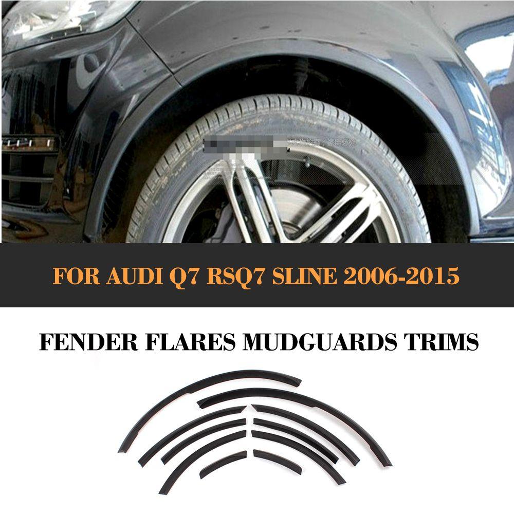 Auto Rad Arch für Audi Q7 RSQ7 Sline 2006-2015 PU Auto Rad Fender Flare Auto Rad Klappen Moudling schneidet Auto Aufkleber