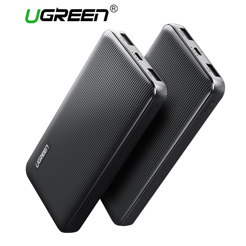 Ugreen Power Bank 10000mAh Dual USB Powerbank for Xiaomi External Battery Portable Charger for Mobile Phones Tablets Power-Bank