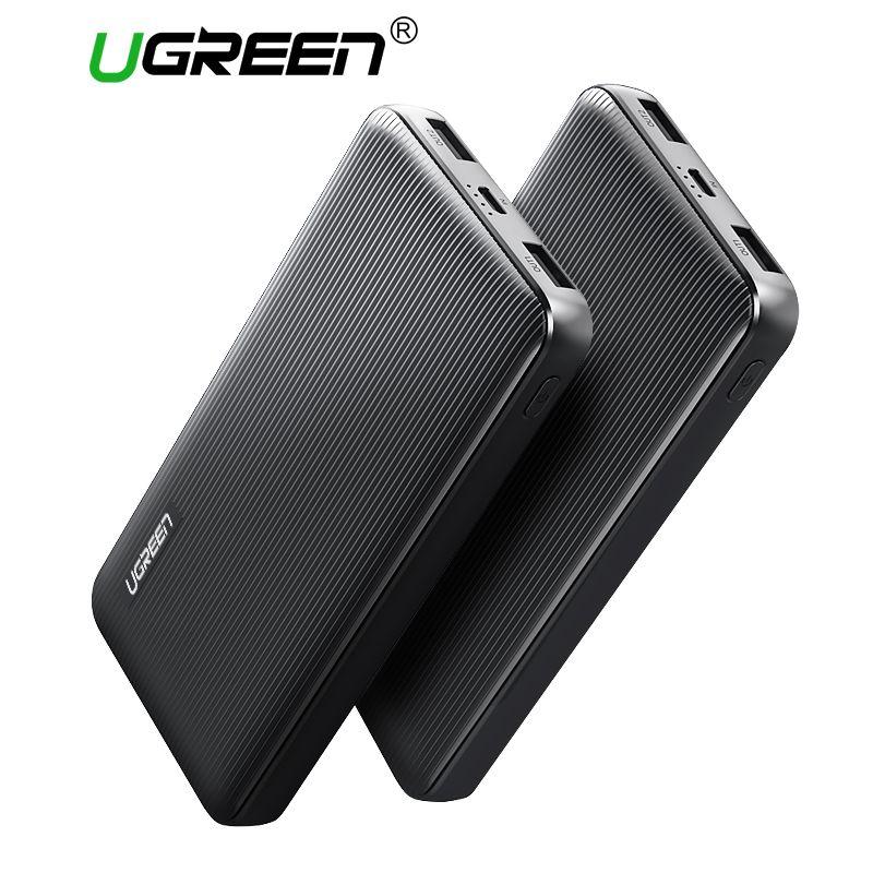 Ugreen Puissance Banque 10000 mAh Double USB Powerbank pour Xiaomi Batterie Externe Portable Chargeur pour Téléphones Mobiles Comprimés Puissance-banque