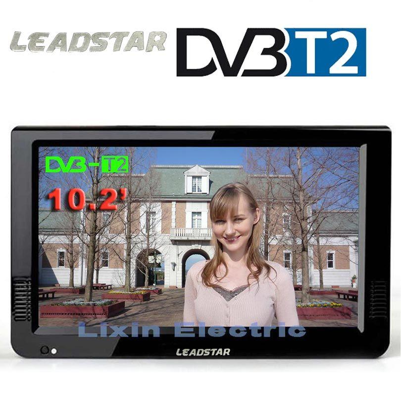 LEADSTAR HD Portable TV 10 pouces numérique et analogique Led téléviseurs prise en charge TF carte USB Audio voiture télévision DVB-T DVB-T2 AC3